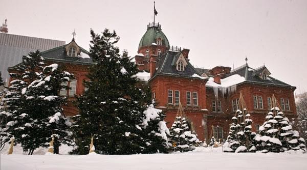 冬の北海道赤レンガ庁舎